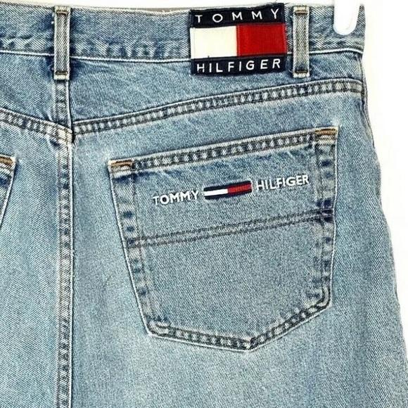 VTG 90's Tommy Hilfiger Big Flag Jean Short Men 38